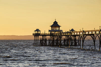 Stunning Landscape Image Of Old Pier Silhouette Against Vibrant  Print by Matthew Gibson
