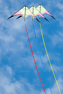 Kites Photograph - Stunt Kite At The Windscape Kite Festival 2011 by Rob Huntley