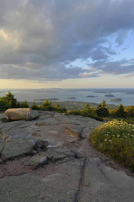 Down East Maine Photograph - Summer Evening On Cadillac Mountain by Stephen  Vecchiotti