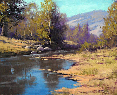 Gums Painting - Summer River by Graham Gercken