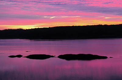 Maine Meadow Photograph - Sunrise On The New Meadows River by Michel Hersen