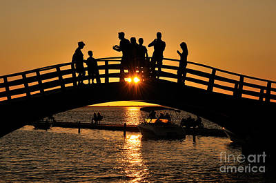 Boat Photograph - Sunset In Lefkada Island by George Atsametakis