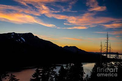 Fallen Leaf On Water Photograph - Sunset On Angora Ridge by Mitch Shindelbower