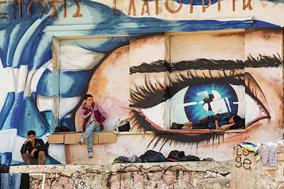 Mural Photograph - Syrian Refugees by Ashley Cooper