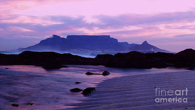 Southafrica Photograph - Table Mountain Doodles Beach 2 by Charl Bruwer