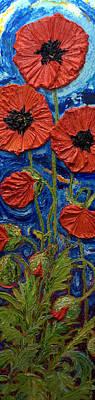 Tall Red Poppies II Print by Paris Wyatt Llanso