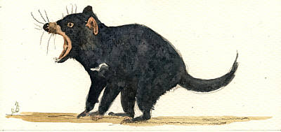 Tasmanian Devil Print by Juan  Bosco