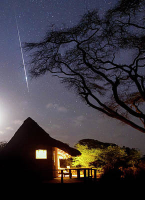 African Huts Photograph - Taurid Meteor Shower by Babak Tafreshi