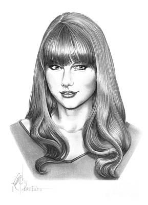 Taylor Swift Drawing - Taylor Swift by Murphy Elliott