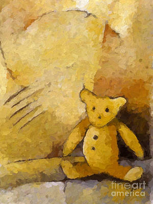 Teddy Print by Lutz Baar
