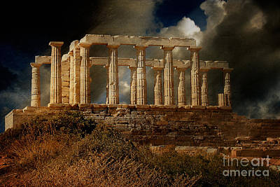 Temple Of Poseidon Print by Lois Bryan