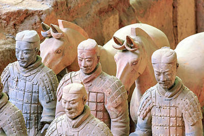 Terracotta Army Museum, Warriors Print by Stuart Westmorland