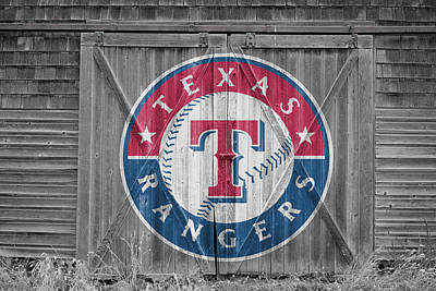 Texas Rangers Print by Joe Hamilton