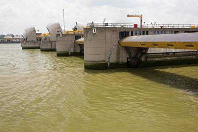 Flooding Photograph - Thames Barrier by Ashley Cooper