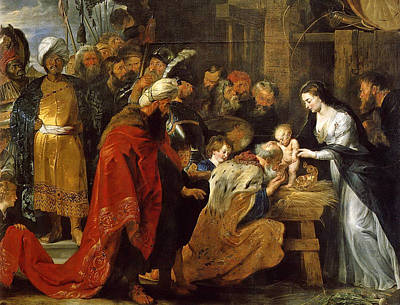 Adoration Magi Painting - The Adoration Of The Magi by Peter Paul Rubens