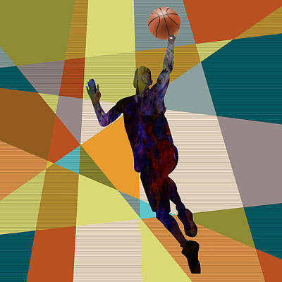 Dunk Painting - The Basket Player  by Celestial Images