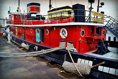 The Big Red Tug Print by Carol Toepke
