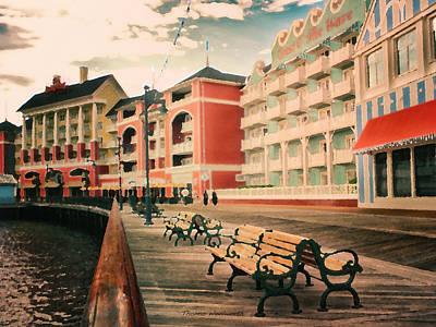 Merchandise Mixed Media - The Boardwalk At Walt Disney World by Thomas Woolworth