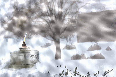 The Candle In The Snow Print by Celestial Images