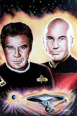 Celebrity Drawing - The Captains   by Andrew Read