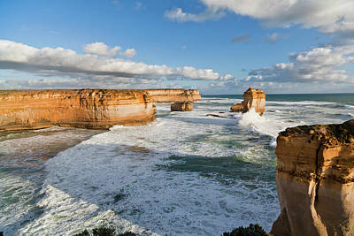 The Coastline Near Loch Ard Gorge Print by Martin Zwick