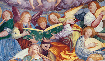 Christmas Greeting Painting - The Concert Of Angels by Gaudenzio Ferrari