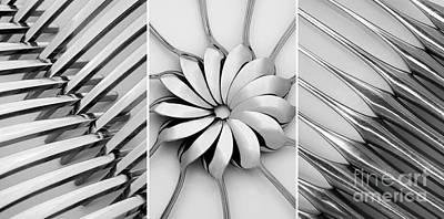 Flower Design Digital Art - The Cutlery Set by Natalie Kinnear