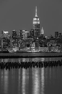 New York City Skyline Photograph - The Empire State Building Pastels II by Susan Candelario