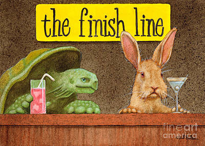 Hare Painting - The Finish Line... by Will Bullas