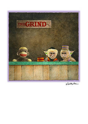 Monkey Painting - The Grind... by Will Bullas