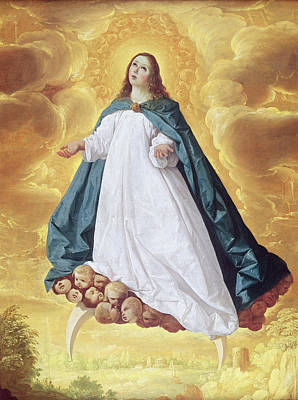 Ladder Painting - The Immaculate Conception by Francisco de Zurbaran
