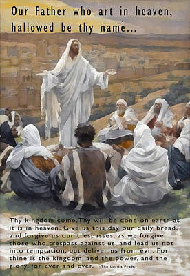 The Lords Prayer Print by James Tissot