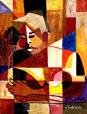 Jacob Lawrence Mixed Media - The Matriarch - Take 2 by Everett Spruill
