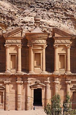 The Monastery At Petra In Jordan Print by Robert Preston