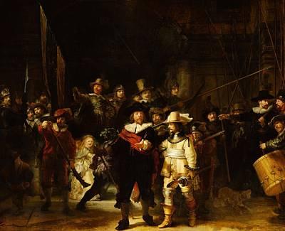 Nightwatch Painting - The Night Watch by Rembrandt Van Rijn