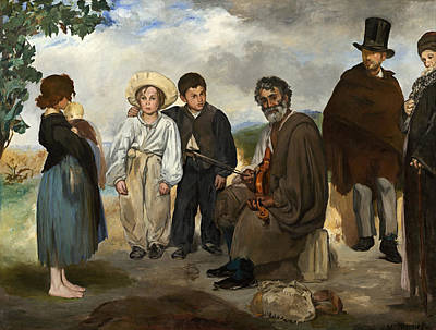 The Old Musician Painting - The Old Musician by Edouard Manet