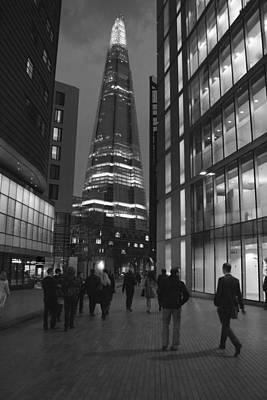 The Shard London Skyline Bw Print by David French