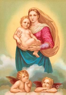 Sistine Painting - The Sistine Madonna by Raphael