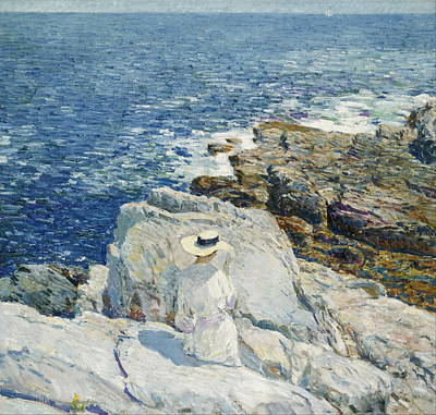Childe Hassam Painting - The South Ledges. Appledore by Childe Hassam