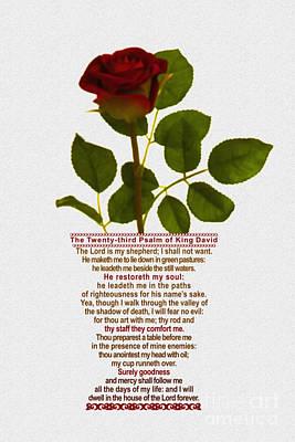 Christian Artwork Digital Art - The Twenty-third Psalm Of King David by Emanuel Asante Jr