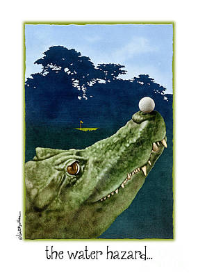 Alligator Painting - The Water Hazard... by Will Bullas