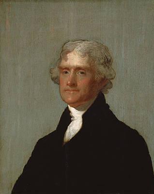Thomas Jefferson Print by Gilbert Stuart