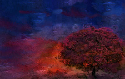 Language Digital Art - Through The Mist by Jack Zulli