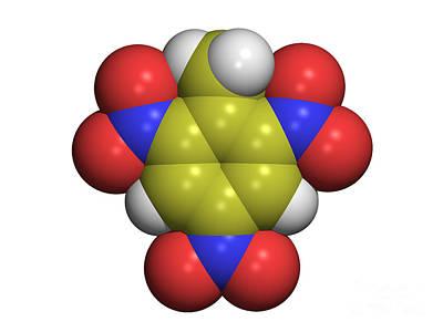 Tnt Photograph - Tnt Molecule by Dr. Tim Evans
