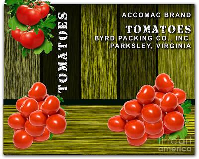 Tomato Mixed Media - Tomato Farm by Marvin Blaine