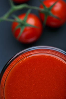 Glasses Photograph - Tomato Juice by Nailia Schwarz