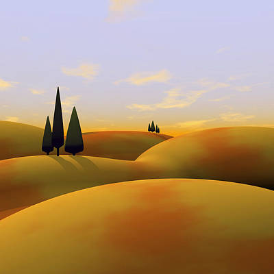 Hills Digital Art - Toscana 3 by Cynthia Decker