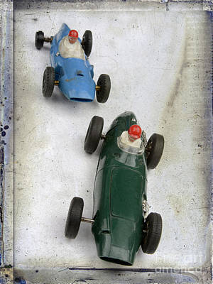 Racecars Photograph - Toy Race Cars by Bernard Jaubert