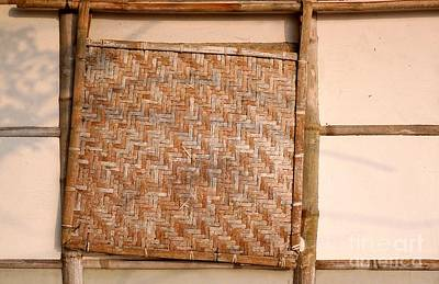 Bamboo House Photograph - Traditional Chinese Bamboo Structure by Yali Shi