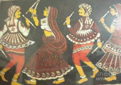Indian Dance Drawing - Traditional Indian Dance by Rohini Yadawar